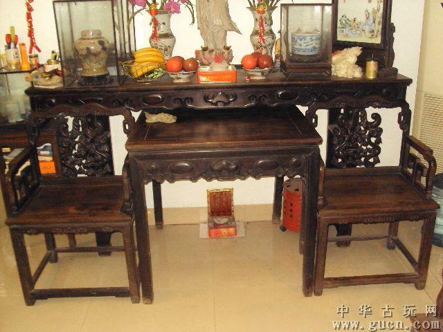 二手红木中堂回收北京红酸枝木中堂回收民国红木老桌子回收民国花梨木